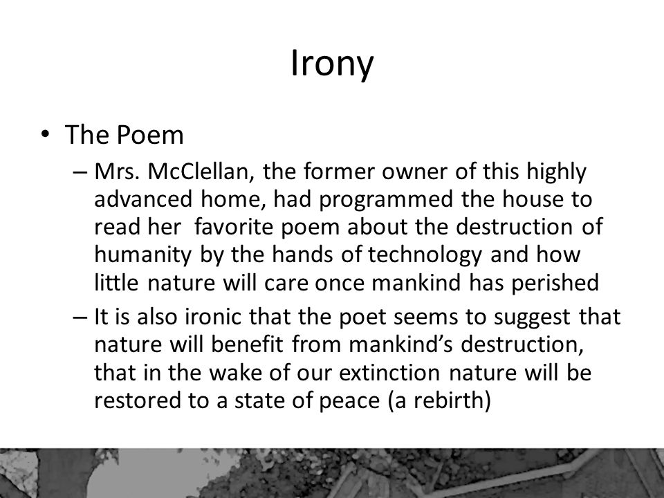 Irony The Poem.