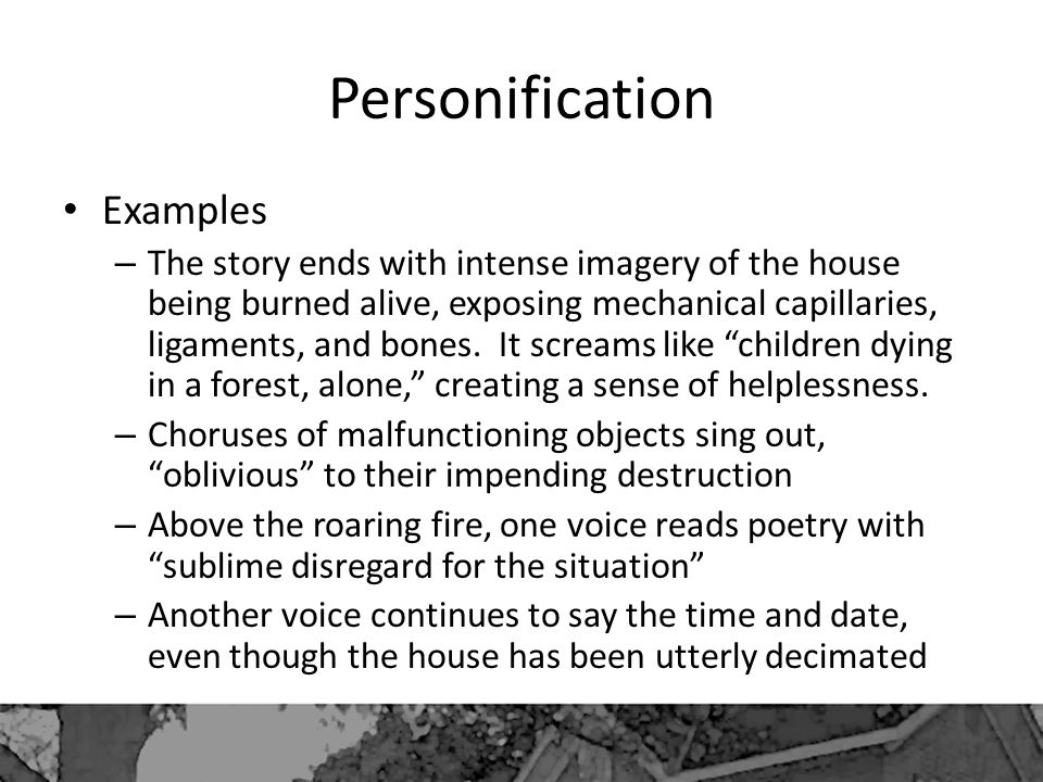 Personification Examples