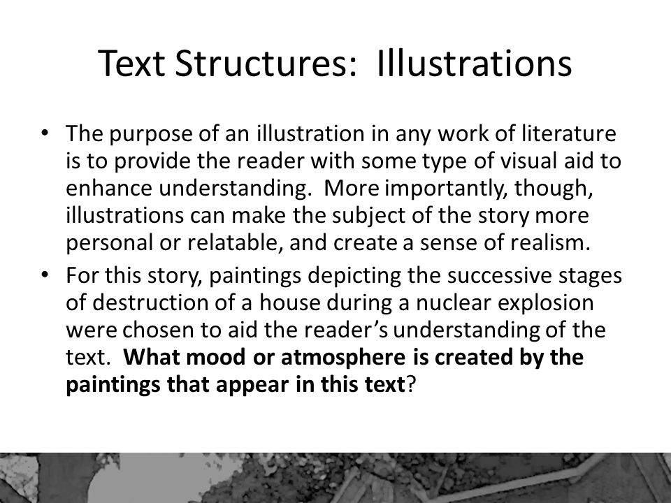 Text Structures: Illustrations