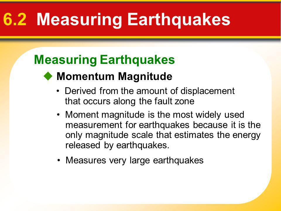 6.2 Measuring Earthquakes