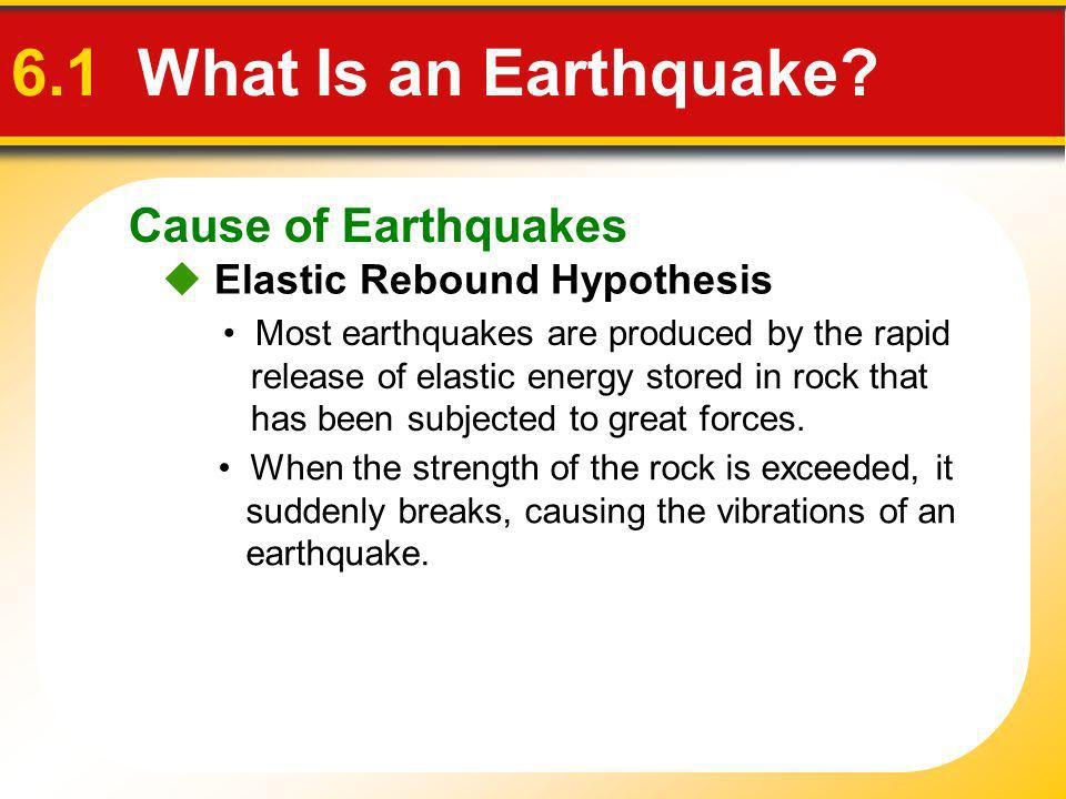 6.1 What Is an Earthquake Cause of Earthquakes