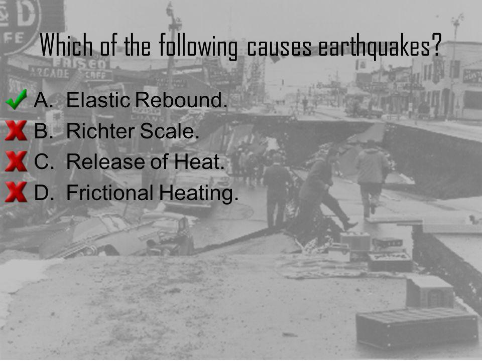 Which of the following causes earthquakes