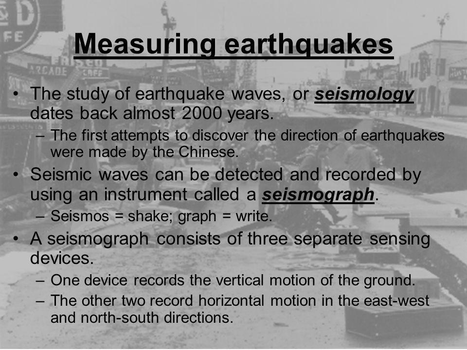 Measuring earthquakes