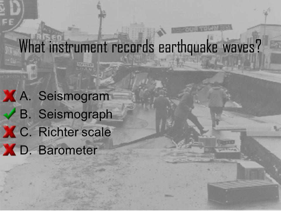 What instrument records earthquake waves