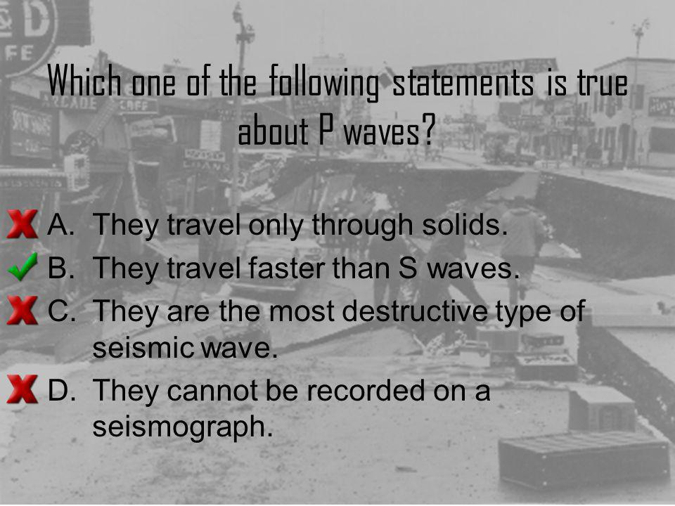 Which one of the following statements is true about P waves