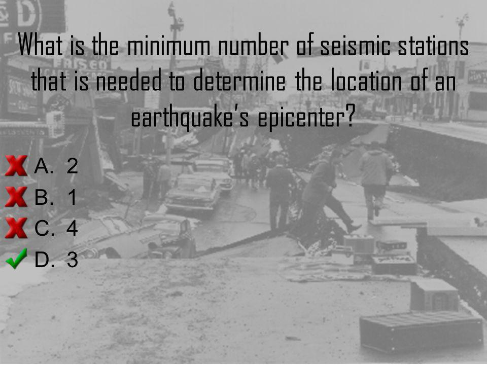 What is the minimum number of seismic stations that is needed to determine the location of an earthquake's epicenter