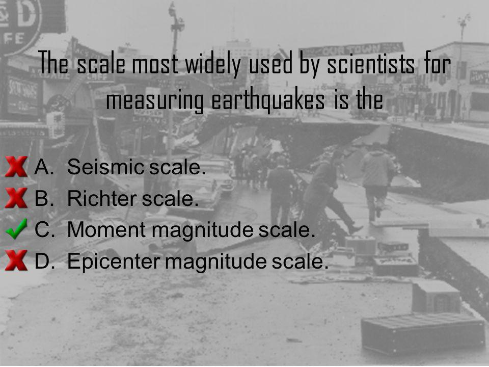 The scale most widely used by scientists for measuring earthquakes is the