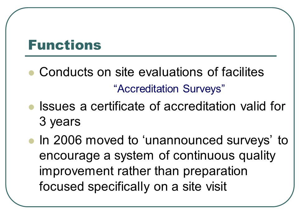Accreditation Surveys