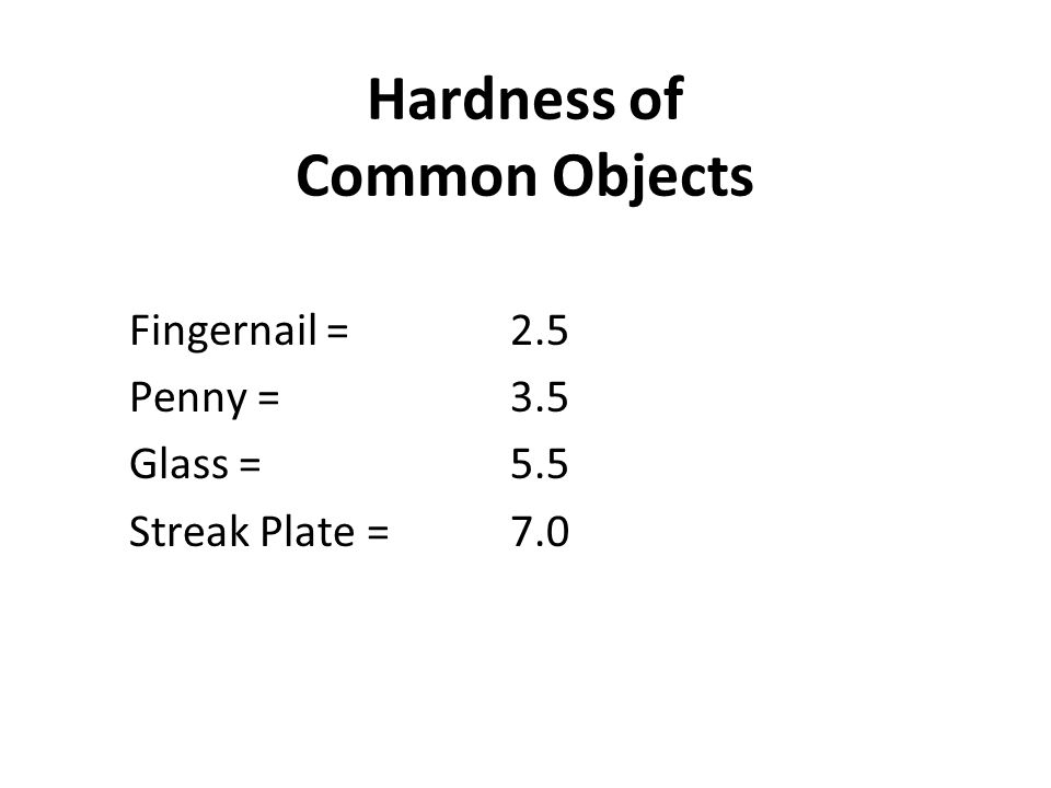 Hardness of Common Objects