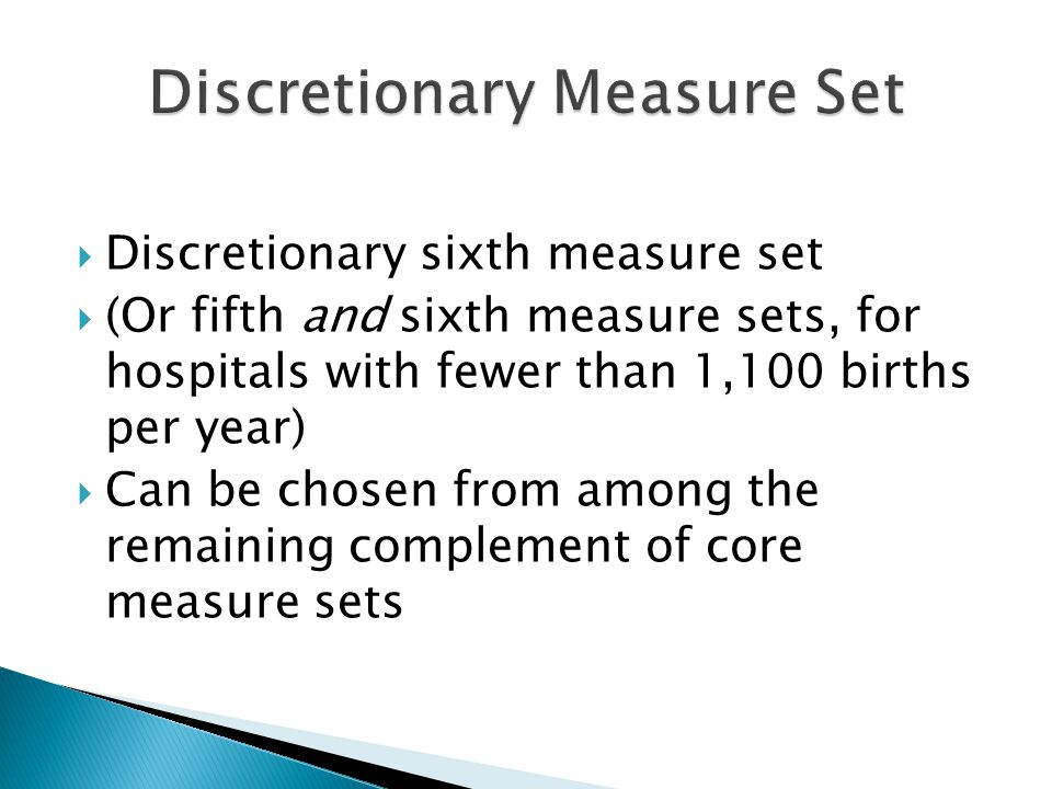 Discretionary Measure Set