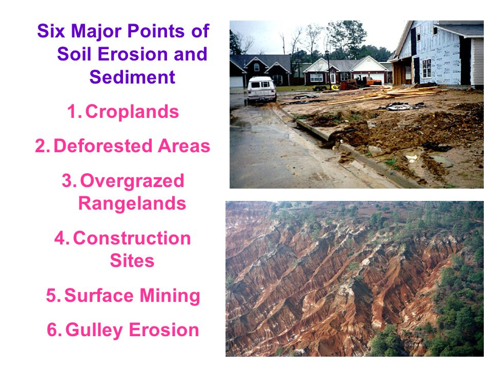 Six Major Points of Soil Erosion and Sediment Overgrazed Rangelands