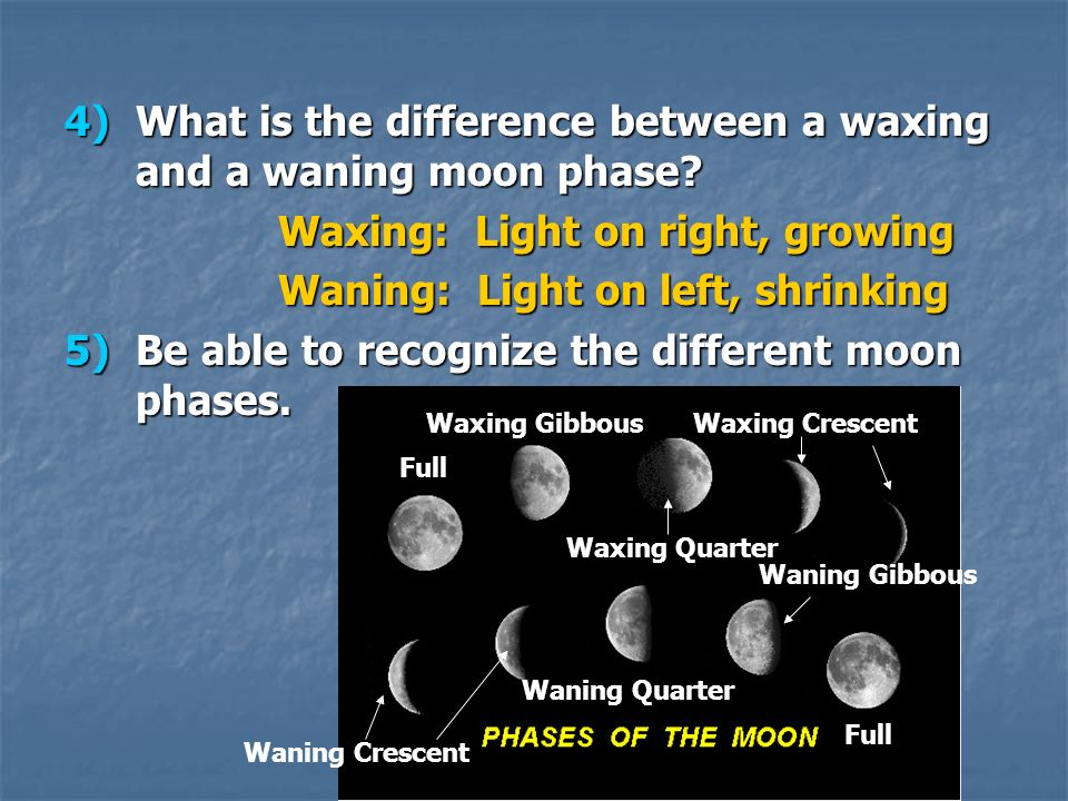 What is the difference between a waxing and a waning moon phase