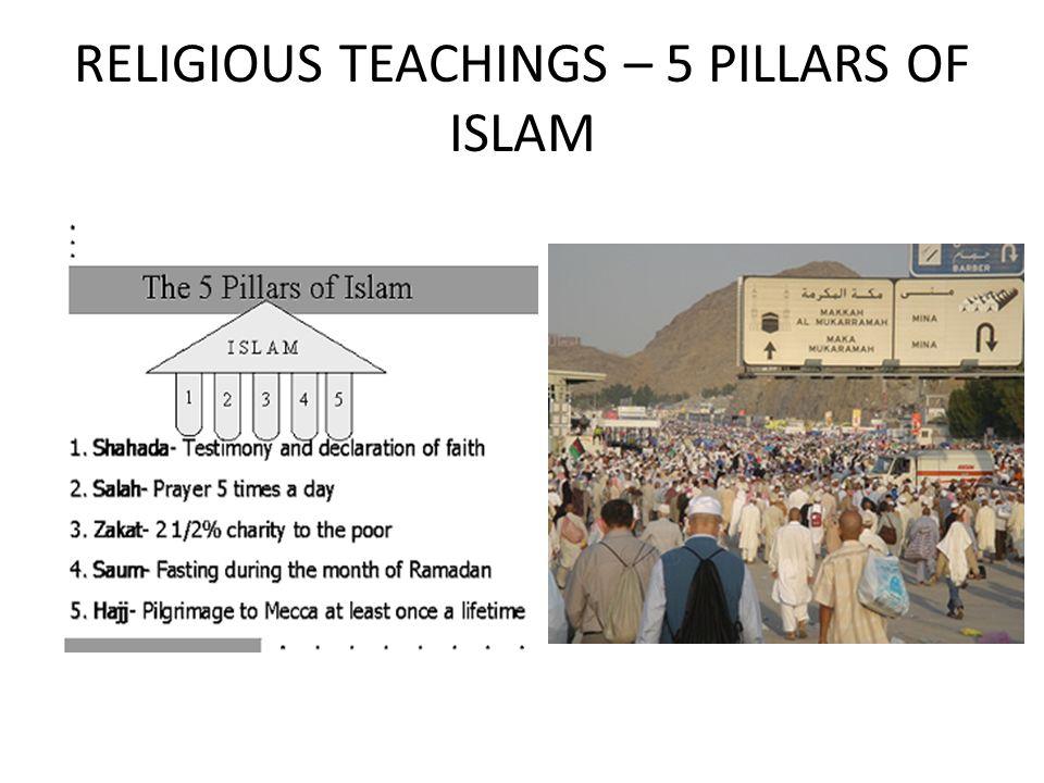 RELIGIOUS TEACHINGS – 5 PILLARS OF ISLAM