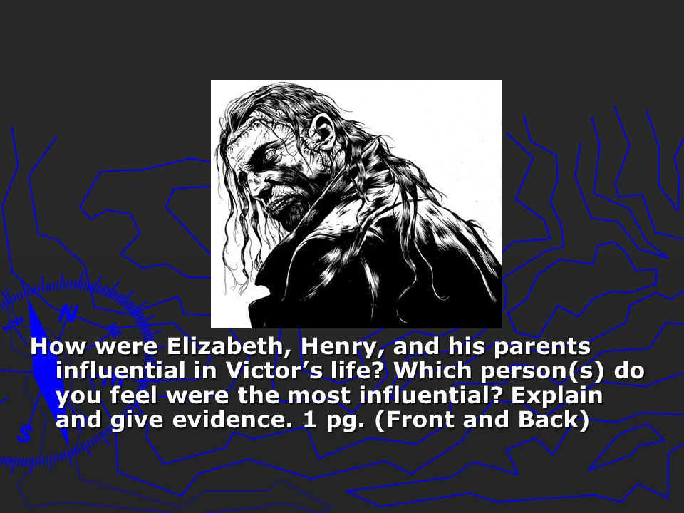 How were Elizabeth, Henry, and his parents influential in Victor's life.