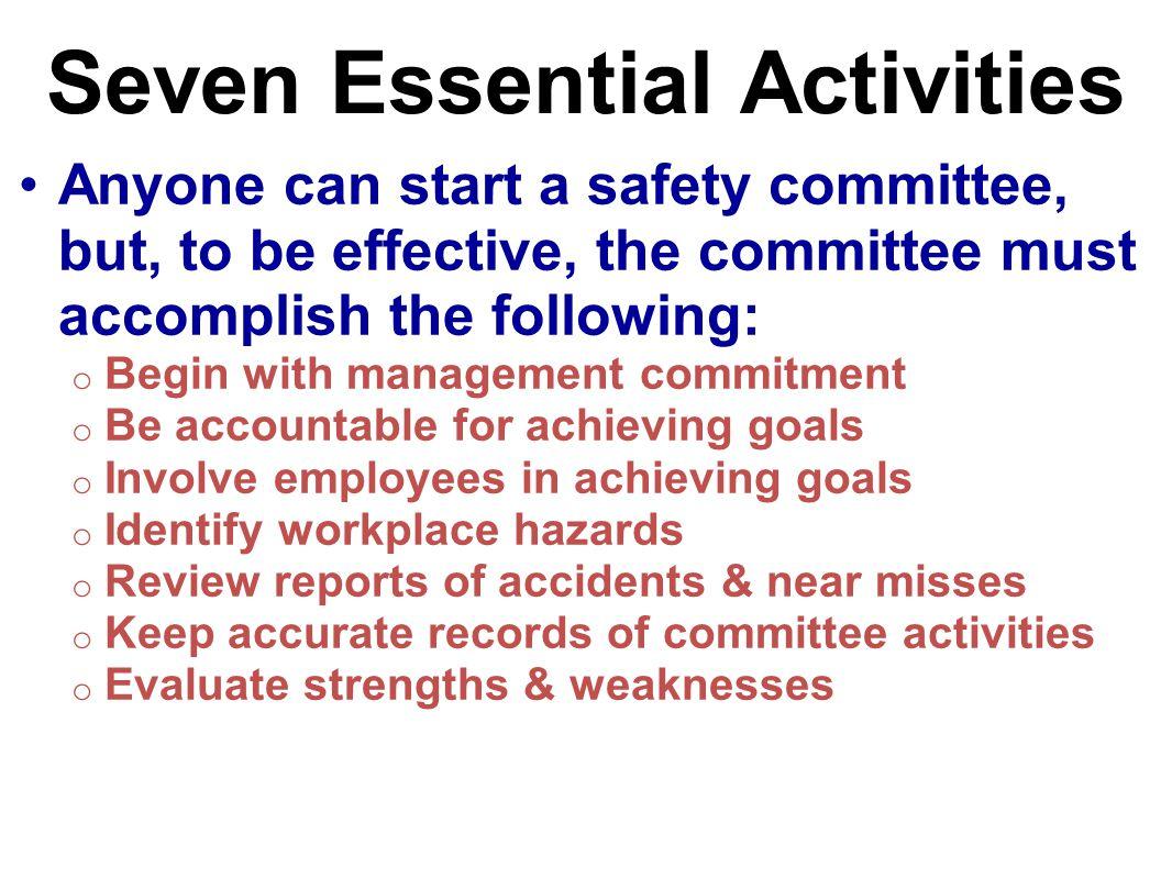 Seven Essential Activities