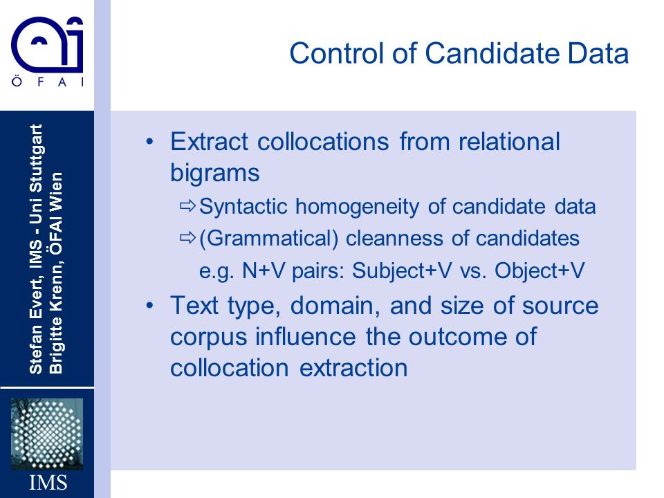 Control of Candidate Data