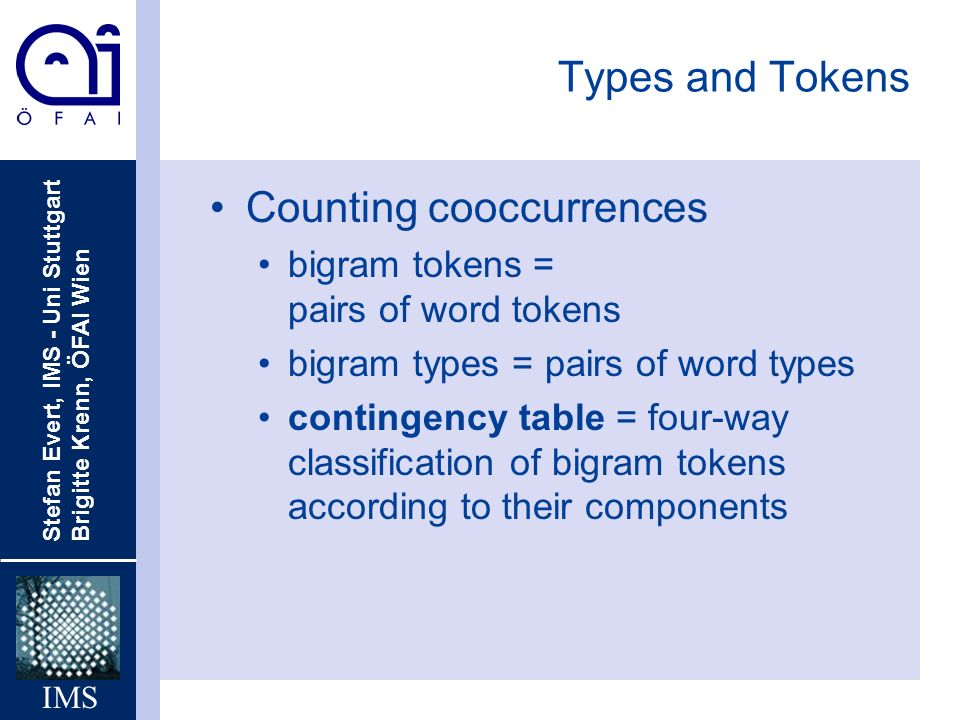 Counting cooccurrences