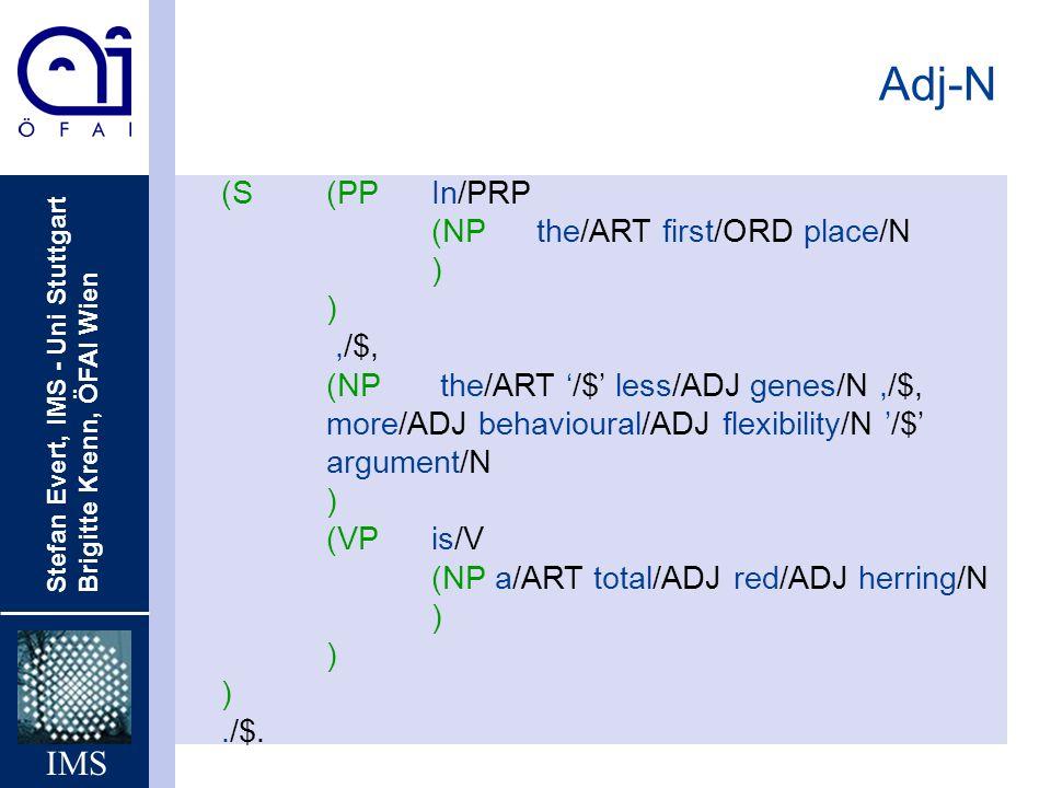 Adj-N (S (PP In/PRP (NP the/ART first/ORD place/N ) ,/$,