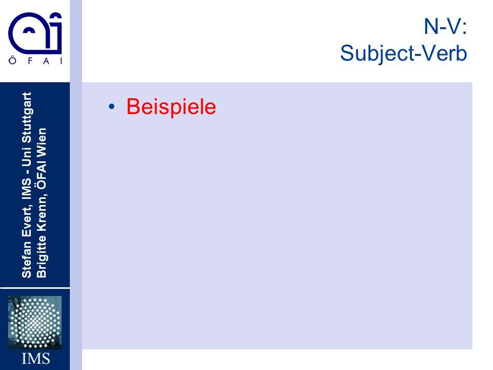 N-V: Subject-Verb Beispiele