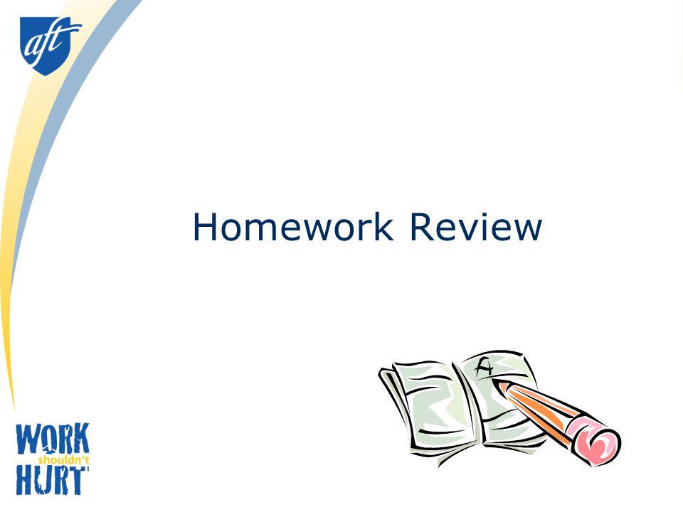 Homework Review