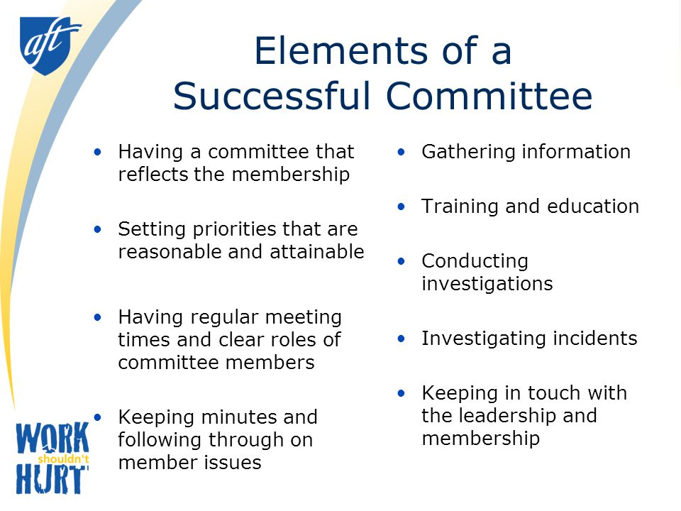 Elements of a Successful Committee