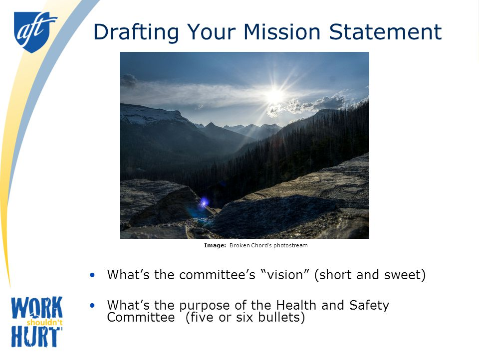 Drafting Your Mission Statement
