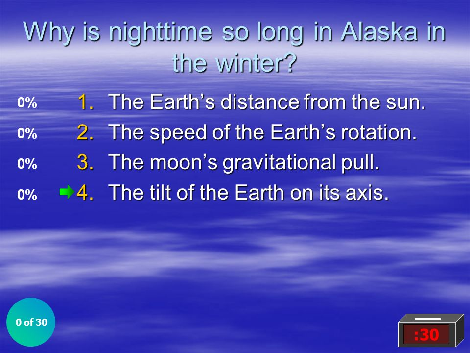 Why is nighttime so long in Alaska in the winter