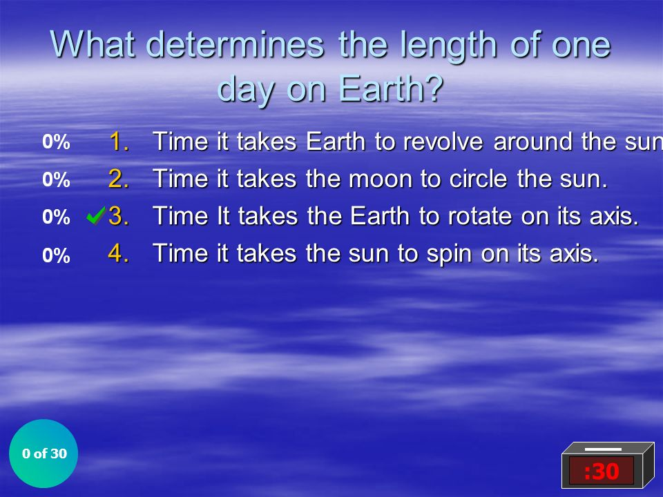 What determines the length of one day on Earth