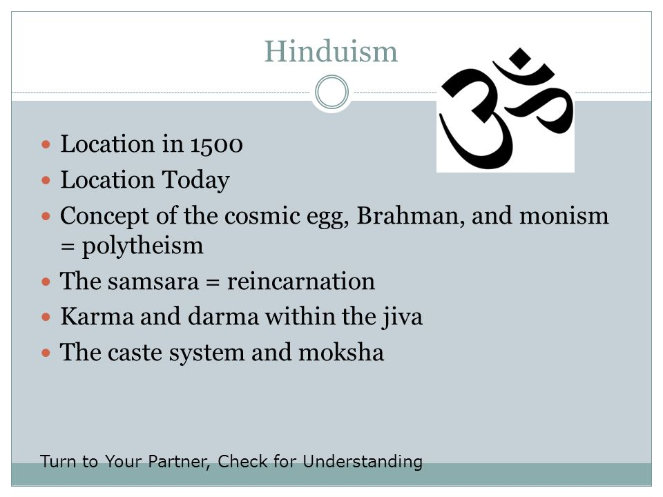 Hinduism Location in 1500 Location Today