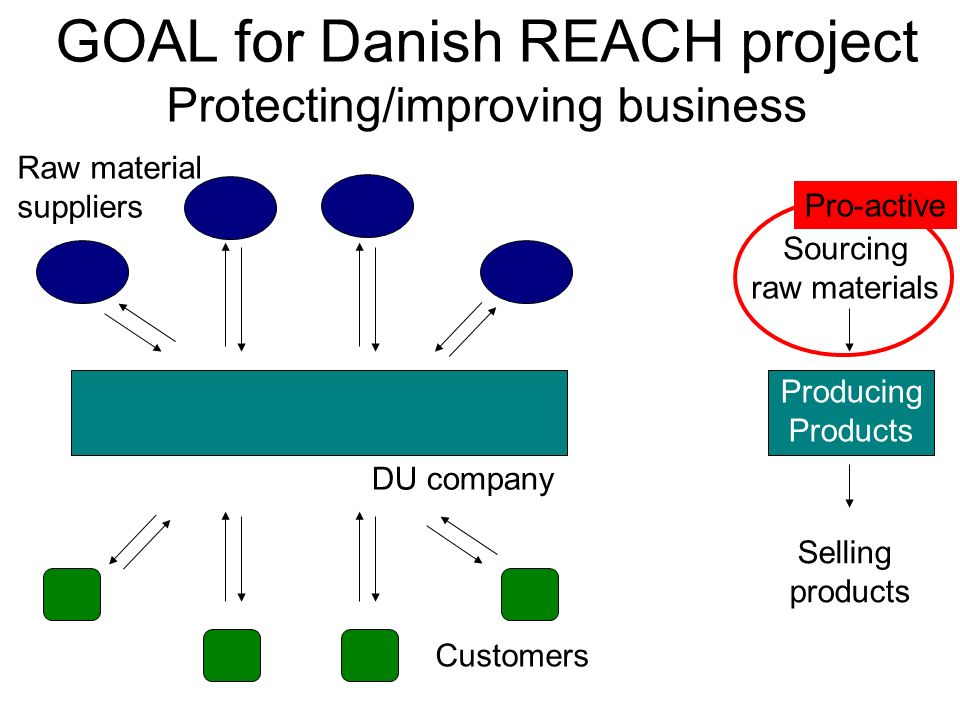 GOAL for Danish REACH project Protecting/improving business