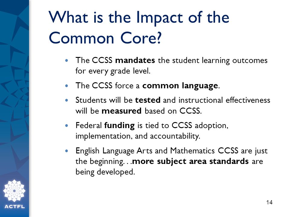 What is the Impact of the Common Core