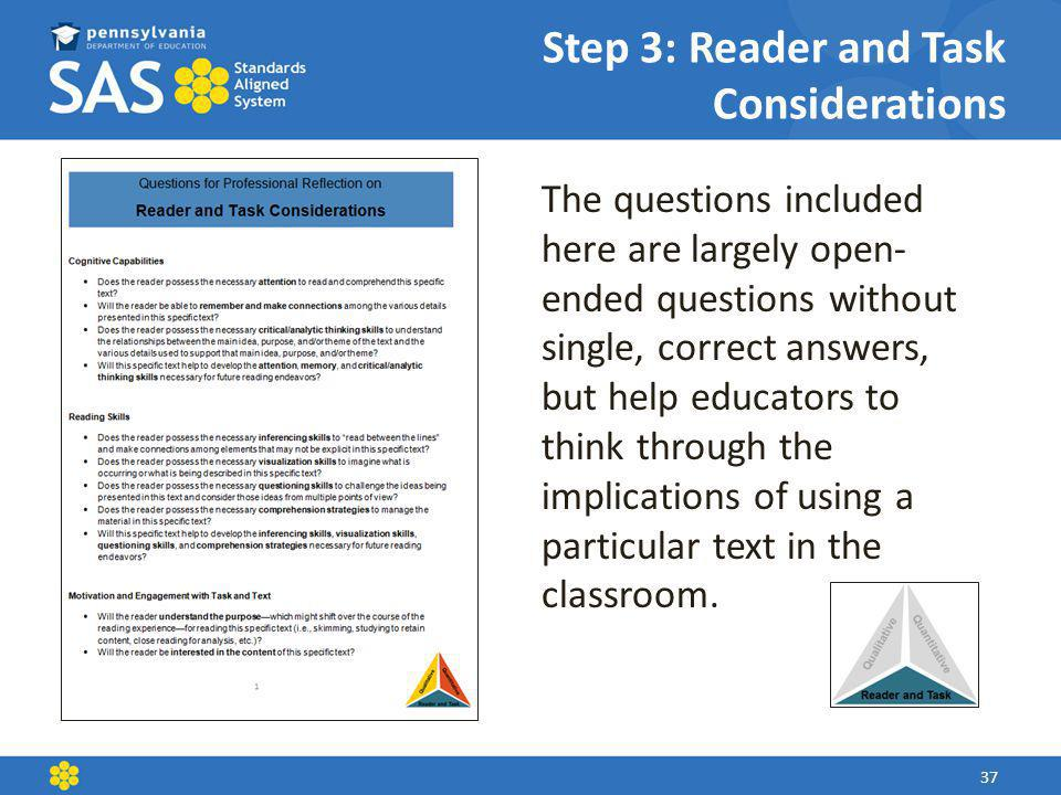 Step 3: Reader and Task Considerations