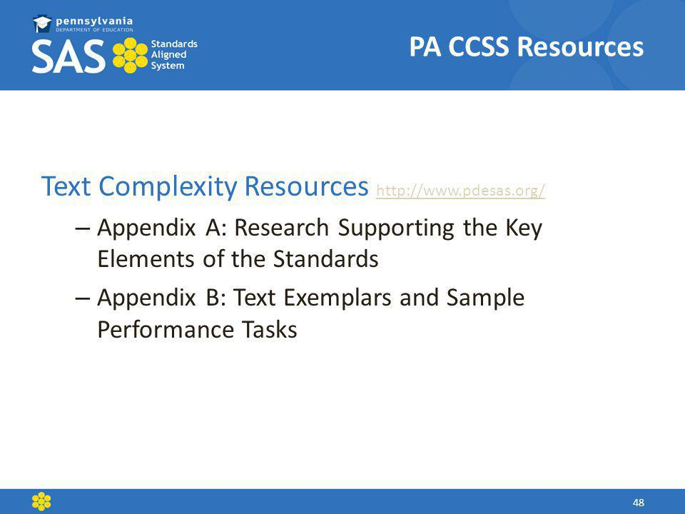 Text Complexity Resources http://www.pdesas.org/