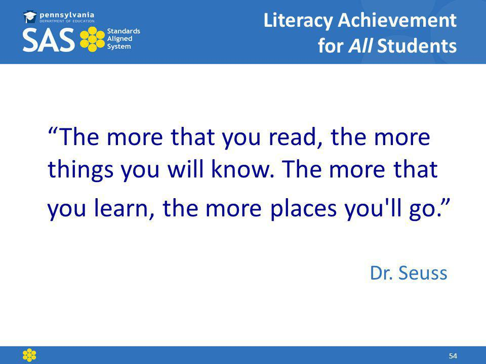 Literacy Achievement for All Students