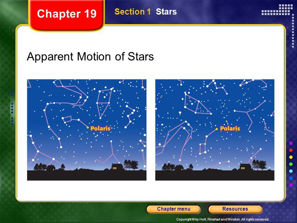 Apparent Motion of Stars