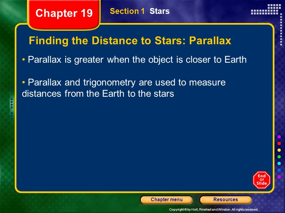 Finding the Distance to Stars: Parallax
