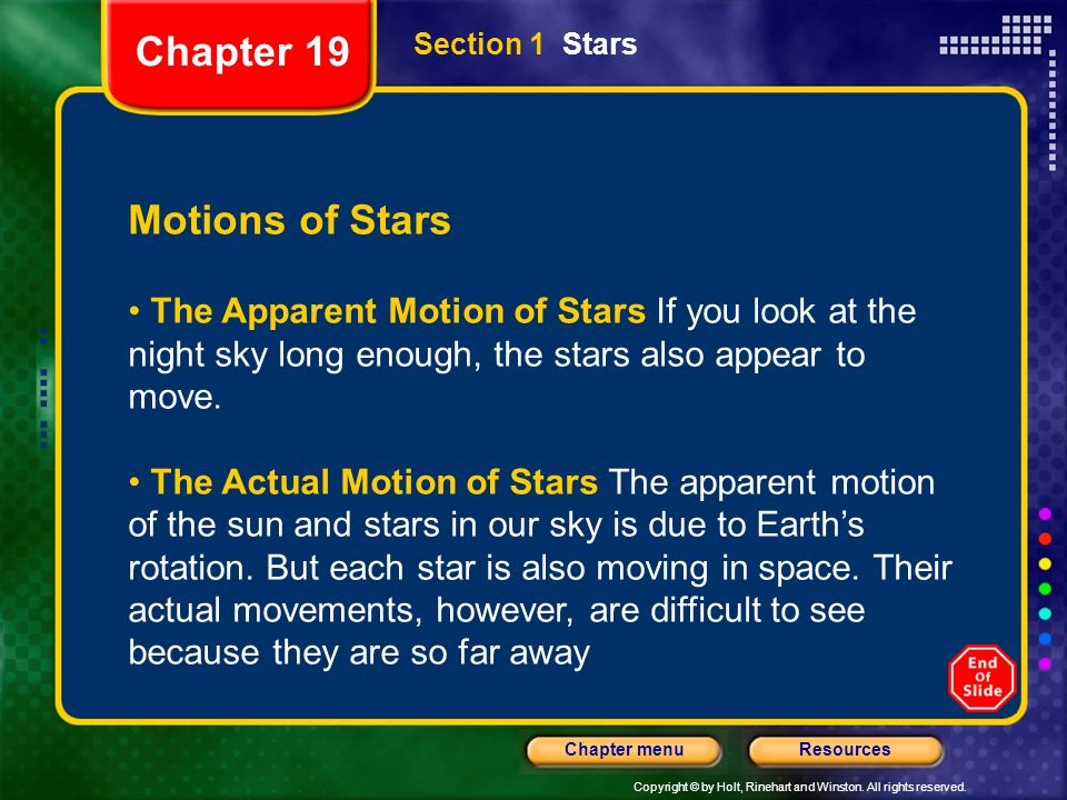 Chapter 19 Motions of Stars