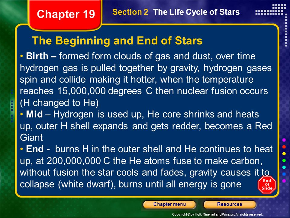 The Beginning and End of Stars