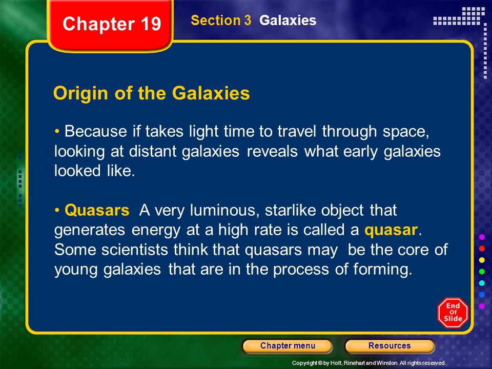Chapter 19 Origin of the Galaxies