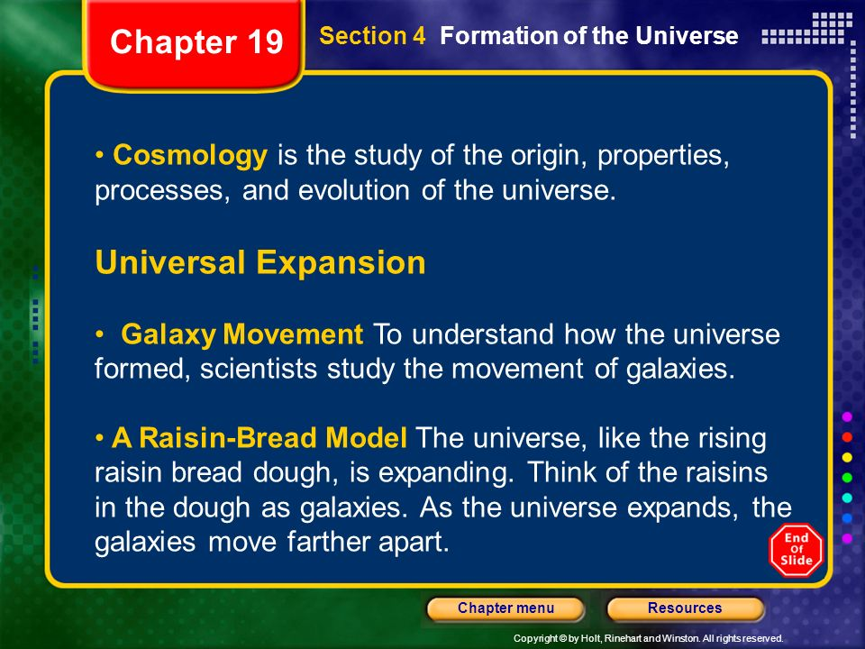 Chapter 19 Universal Expansion