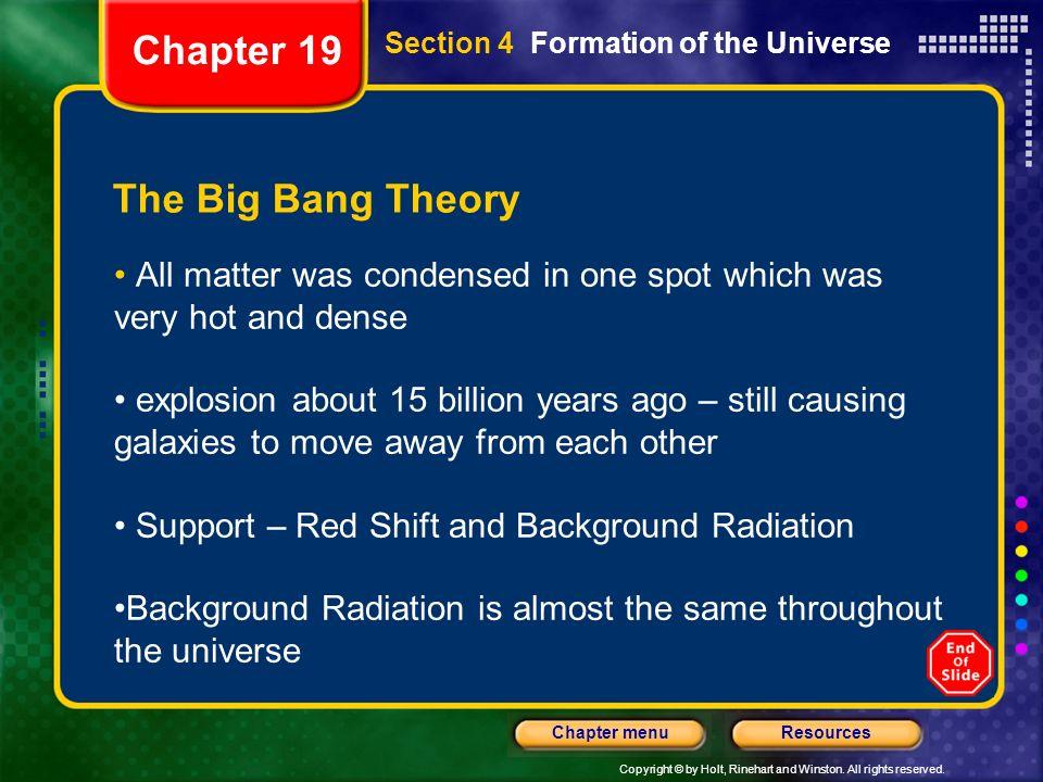 Chapter 19 The Big Bang Theory