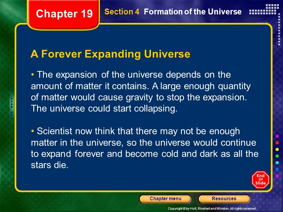 A Forever Expanding Universe