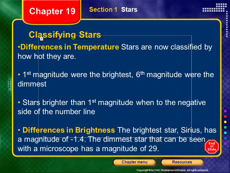 Chapter 19 Classifying Stars
