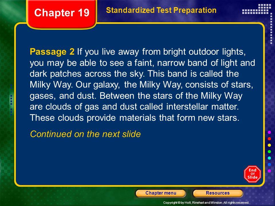 Chapter 19 Standardized Test Preparation.