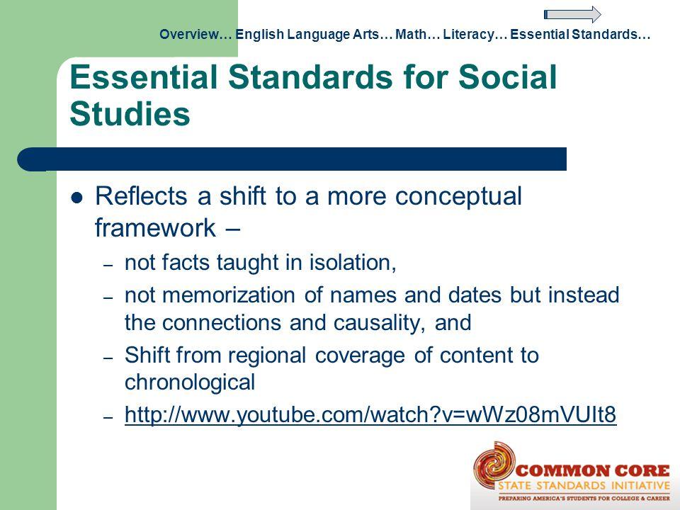 Essential Standards for Social Studies