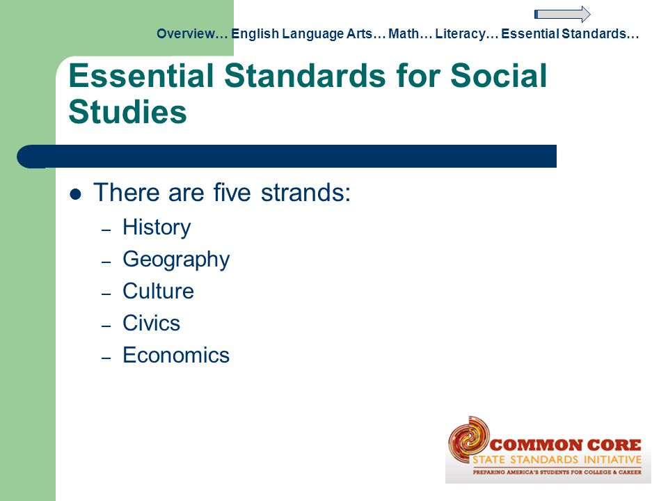 Essential Standards for Social Studies