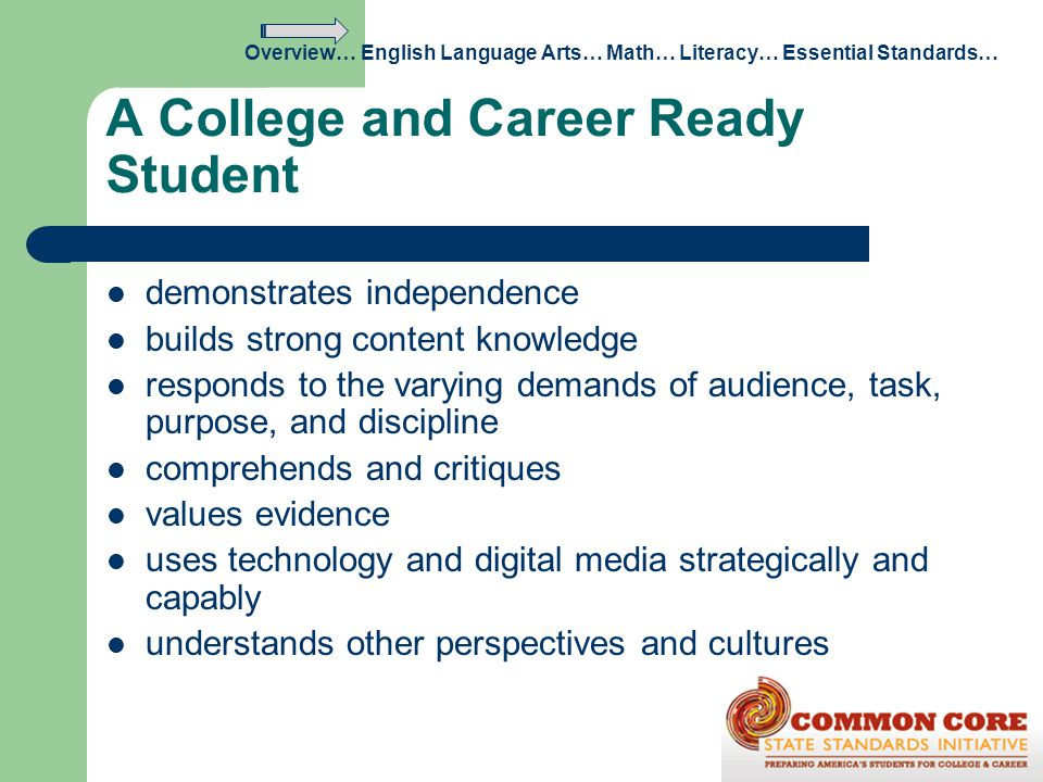 A College and Career Ready Student