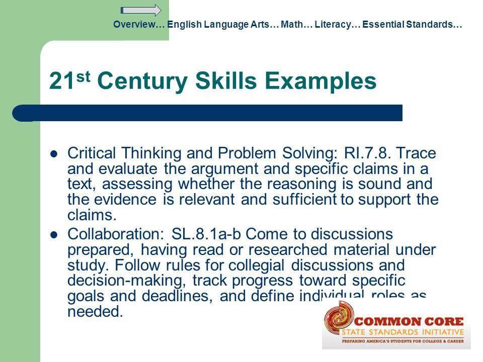21st Century Skills Examples
