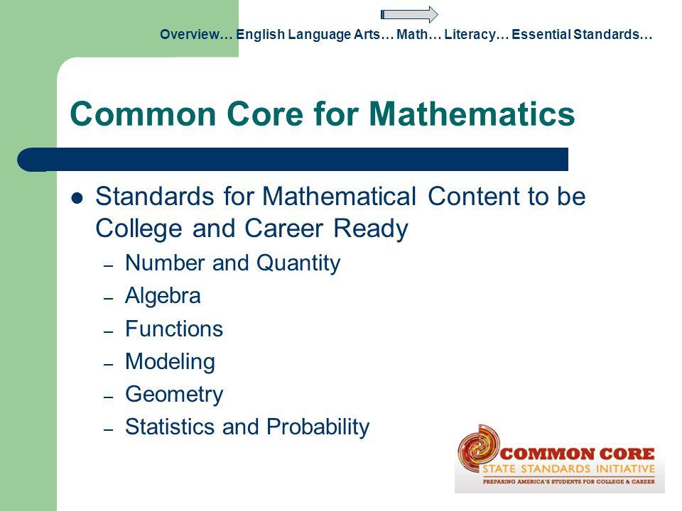 Common Core for Mathematics