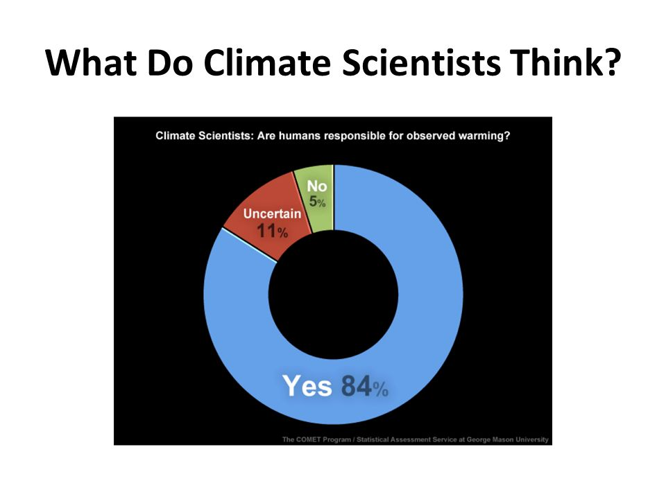 What Do Climate Scientists Think